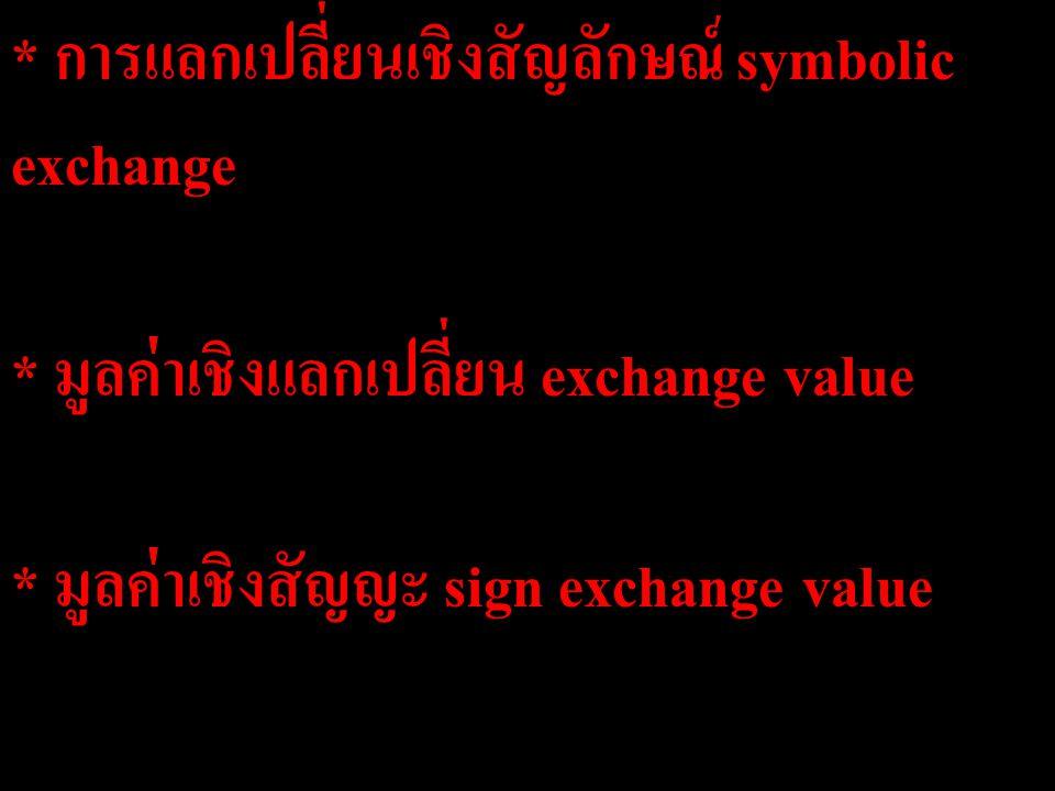 การแลกเปลี่ยนเชิงสัญลักษณ์ symbolic exchange