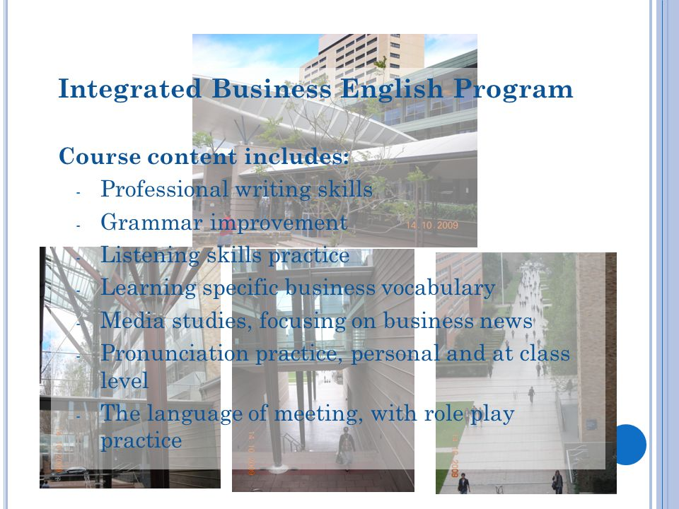 Integrated Business English Program