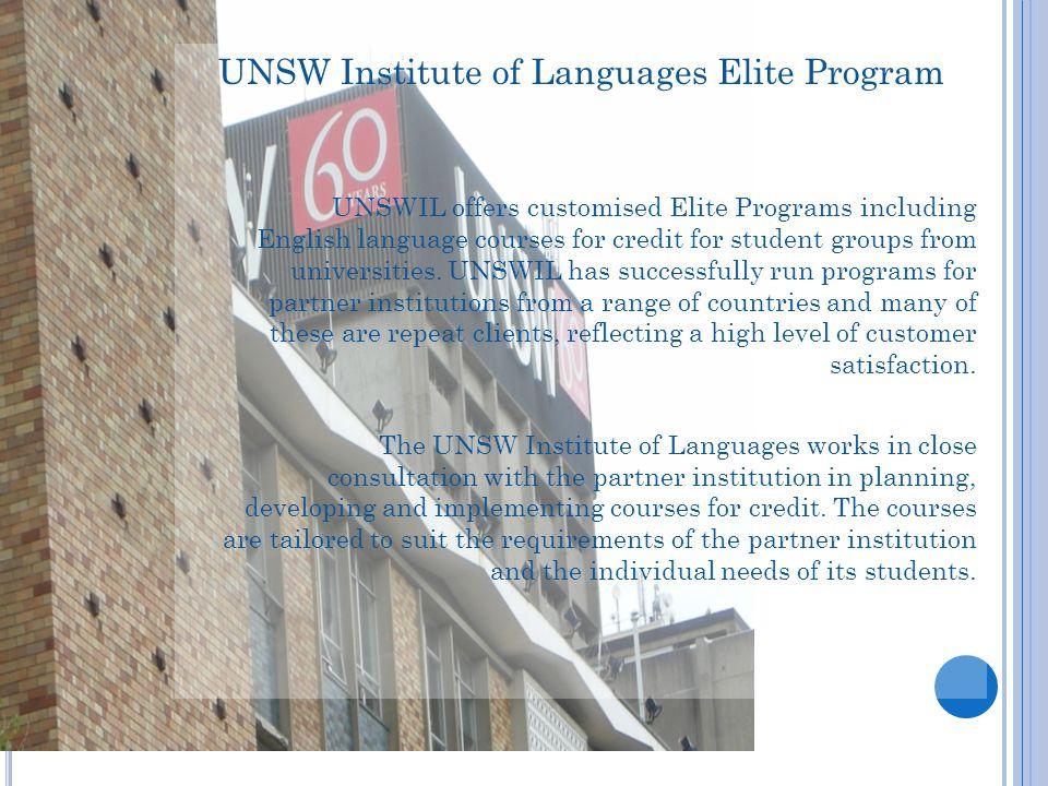 UNSW Institute of Languages Elite Program