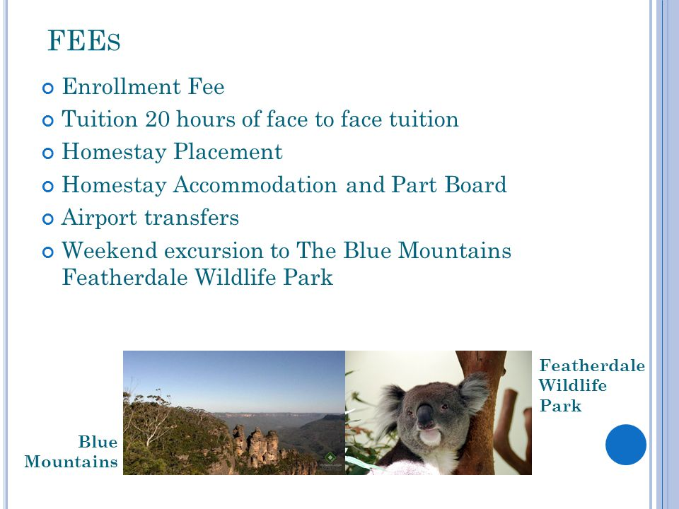 FEEs Enrollment Fee Tuition 20 hours of face to face tuition