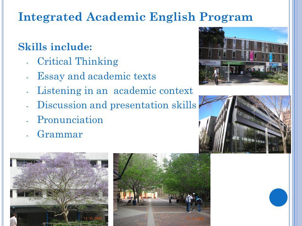 Integrated Academic English Program