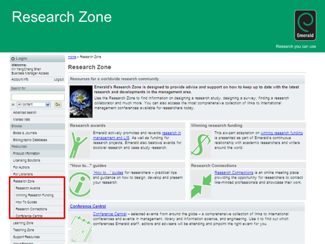Research Zone