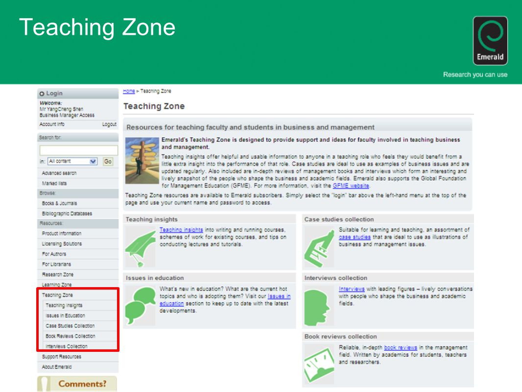 Teaching Zone