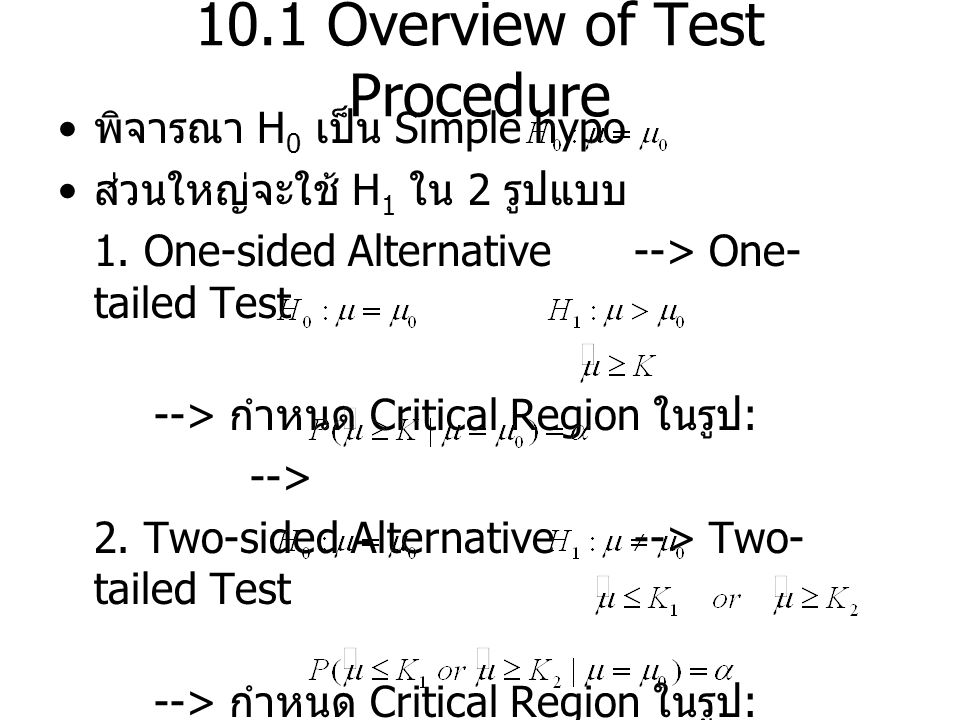 10.1 Overview of Test Procedure