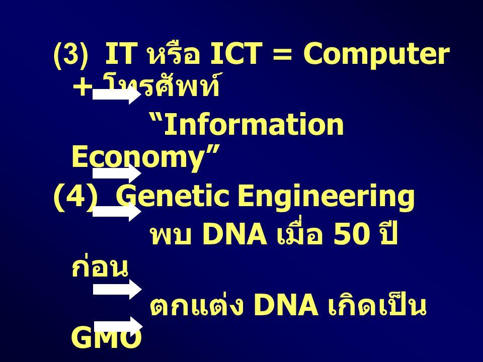(3) IT หรือ ICT = Computer + โทรศัพท์