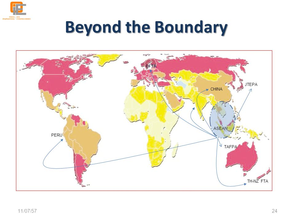 Beyond the Boundary 04/04/60 EFTA JTEPA CHINA ASEAN PERU TAFPA
