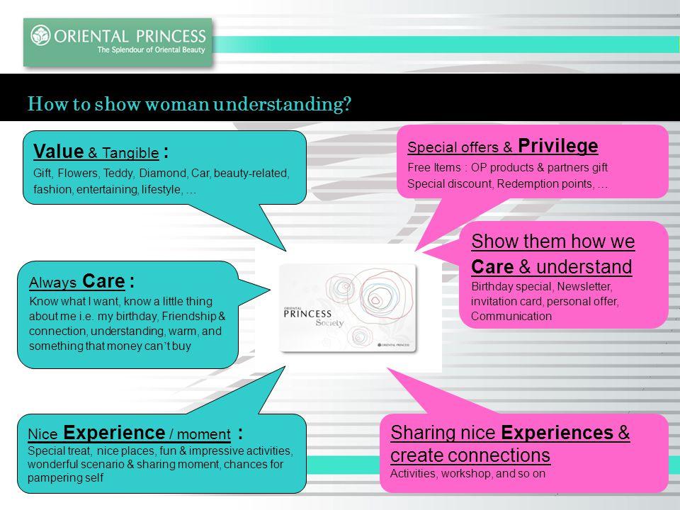 How to show woman understanding