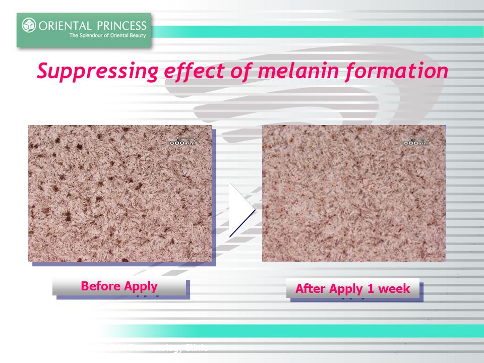 Suppressing effect of melanin formation