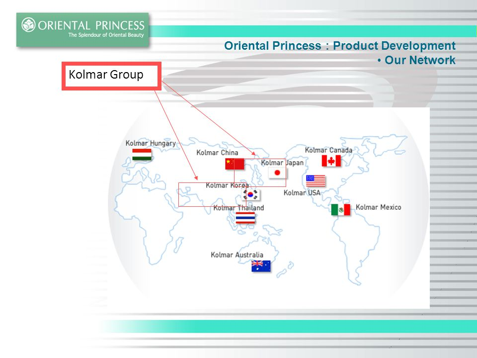 Oriental Princess : Product Development