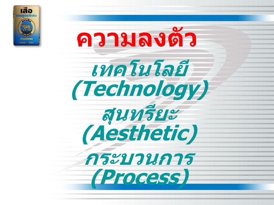 เทคโนโลยี (Technology) สุนทรียะ (Aesthetic) กระบวนการ (Process)
