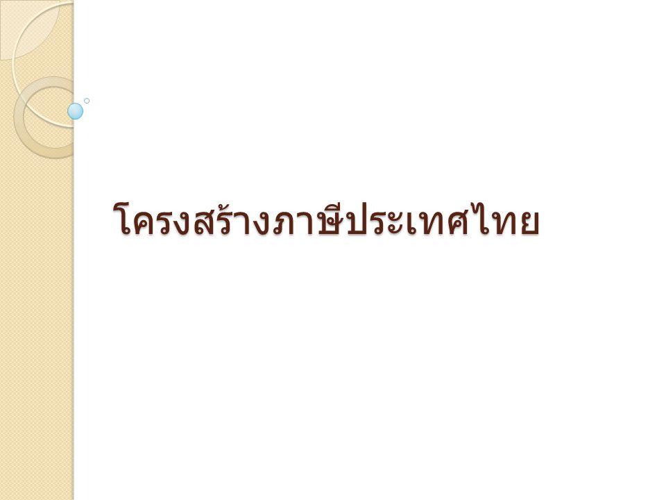 โครงสร้างภาษีประเทศไทย