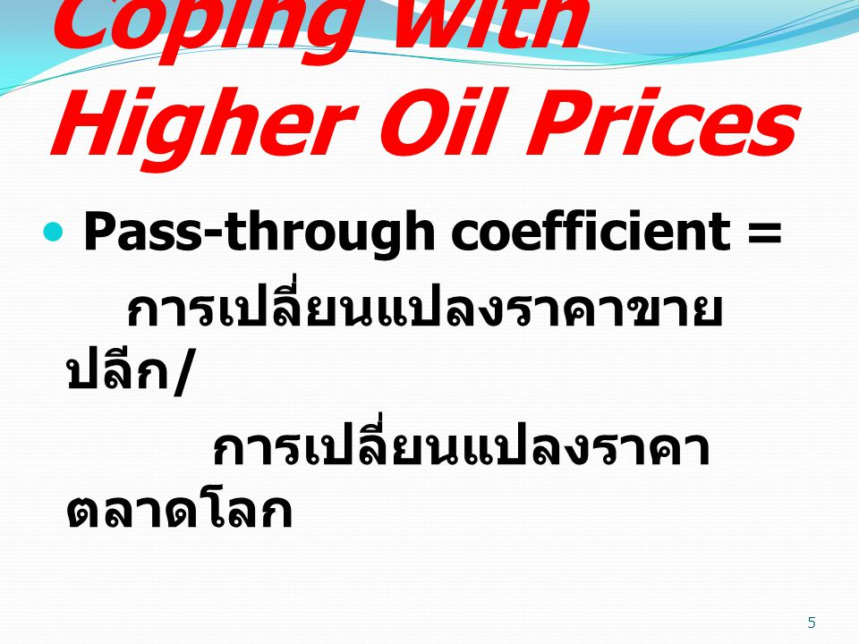 Coping with Higher Oil Prices