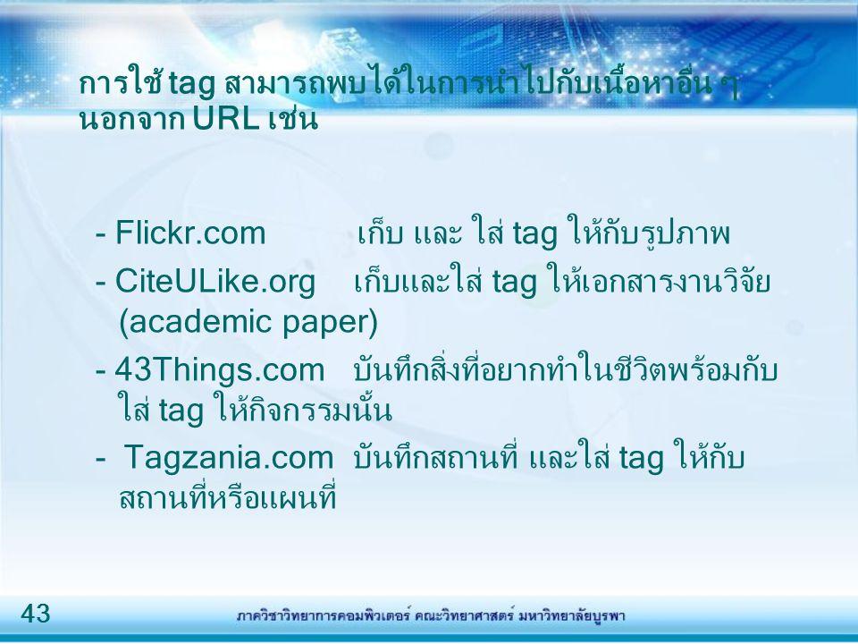 การใช้ tag สามารถพบได้ในการนำไปกับเนื้อหาอื่น ๆ นอกจาก URL เช่น
