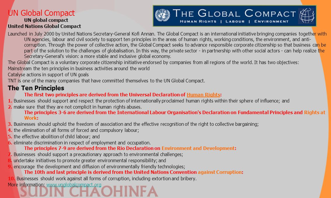 UN Global Compact UN global compact