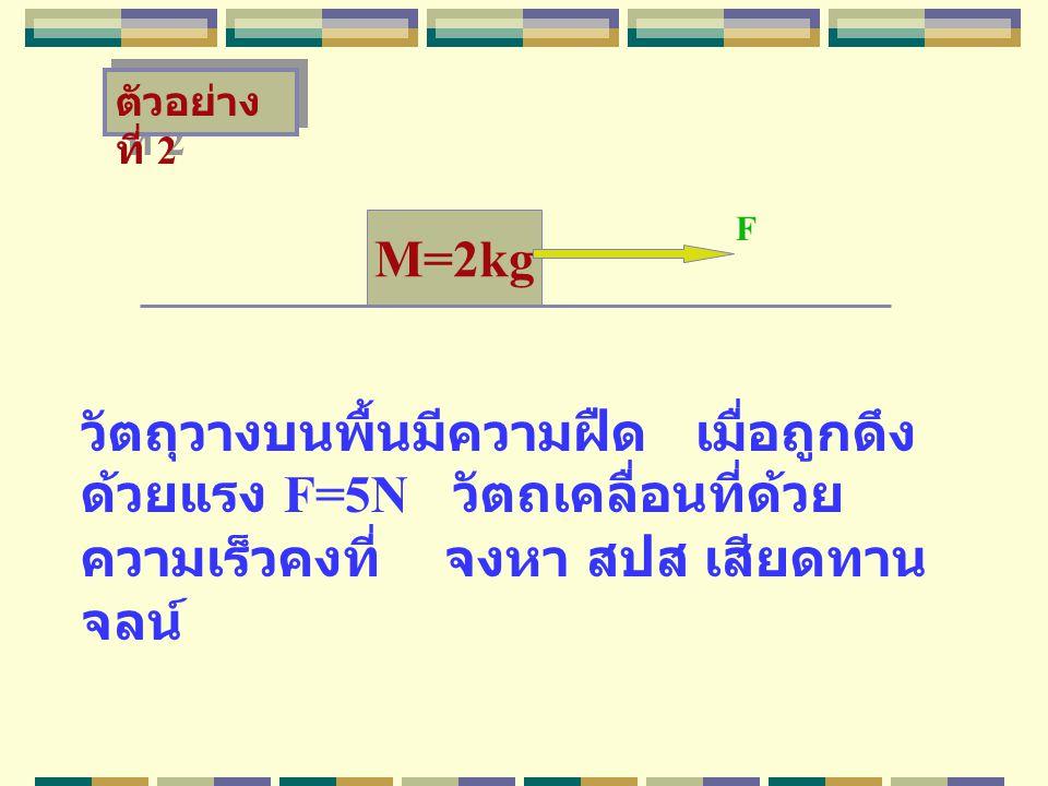 ตัวอย่างที่ 2 F. M=2kg.