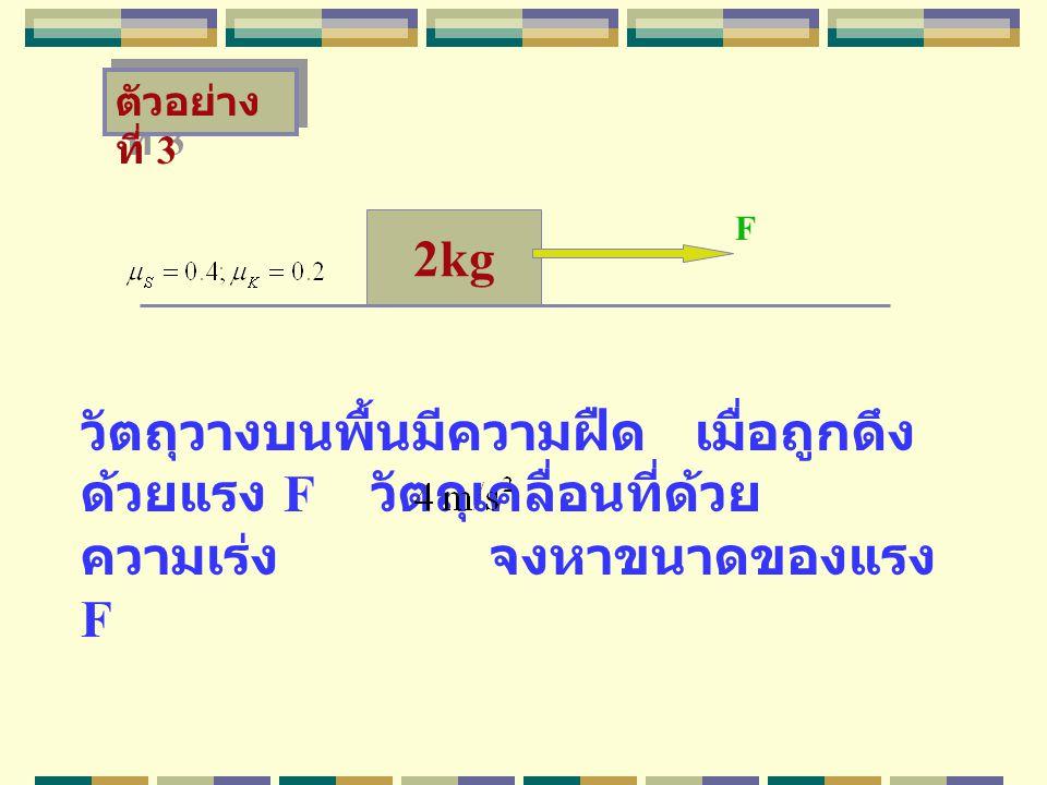 ตัวอย่างที่ 3 F. 2kg.