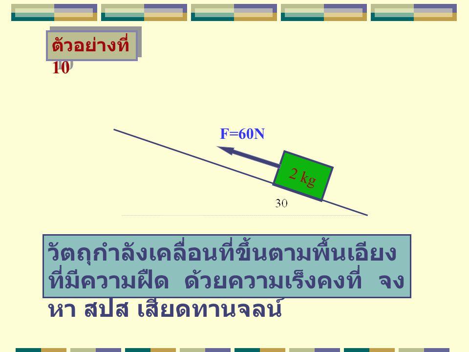 ตัวอย่างที่ 10 F=60N. 2 kg.