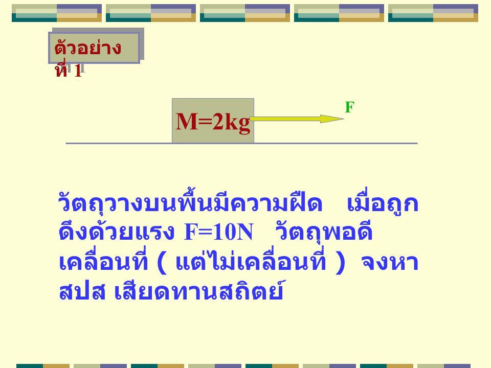ตัวอย่างที่ 1 F. M=2kg.