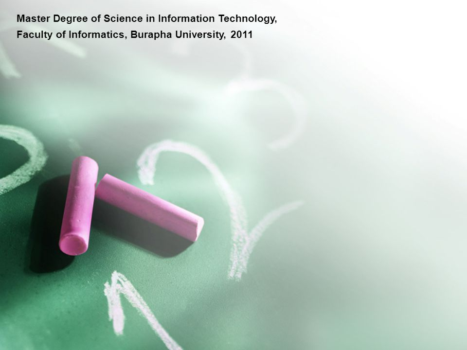 Master Degree of Science in Information Technology,