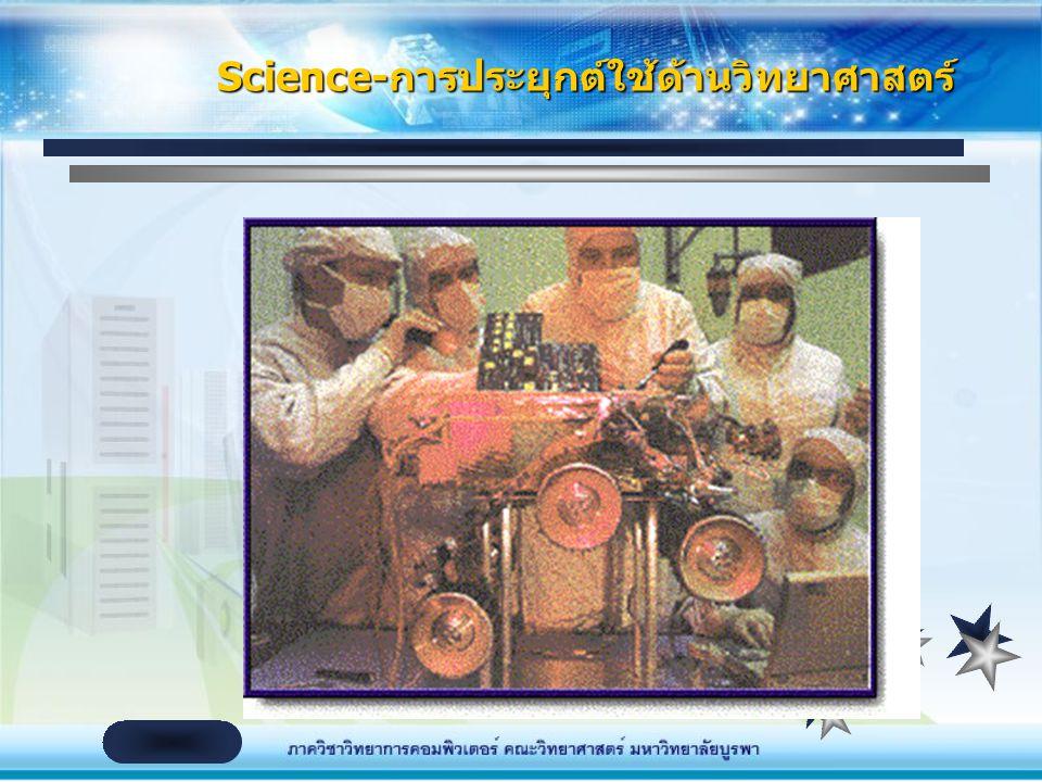 Science-การประยุกต์ใช้ด้านวิทยาศาสตร์
