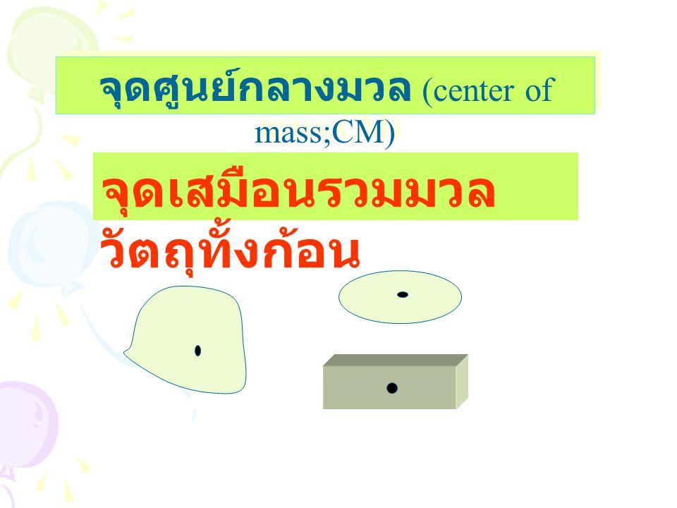 จุดศูนย์กลางมวล (center of mass;CM)
