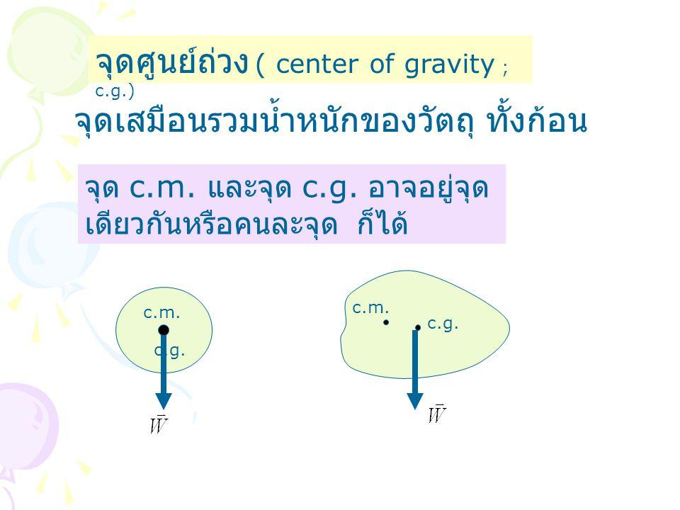 จุดศูนย์ถ่วง ( center of gravity ; c.g.)