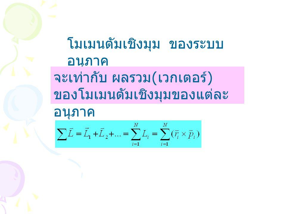 โมเมนตัมเชิงมุม ของระบบอนุภาค