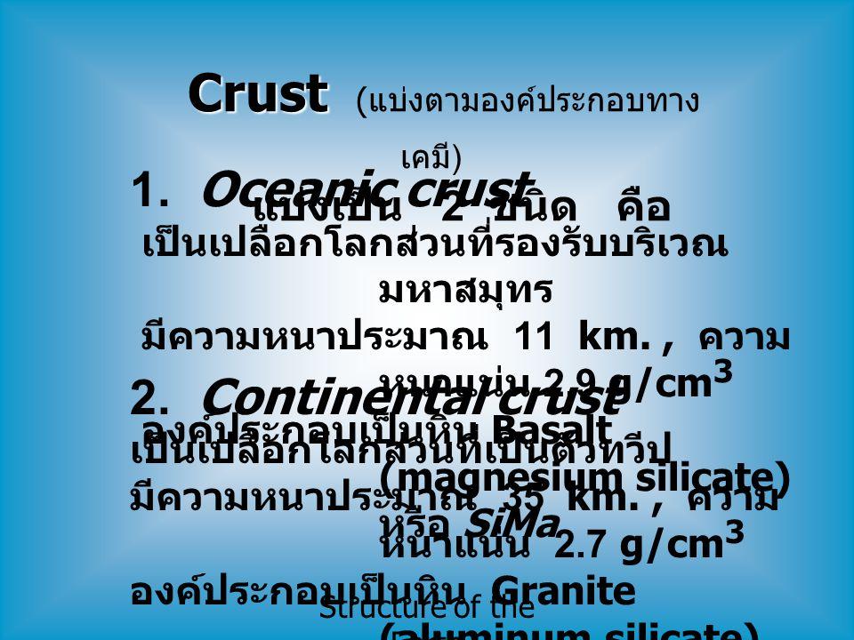 Crust (แบ่งตามองค์ประกอบทางเคมี)