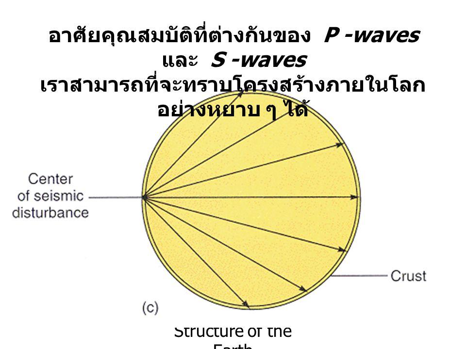 อาศัยคุณสมบัติที่ต่างกันของ P -waves และ S -waves