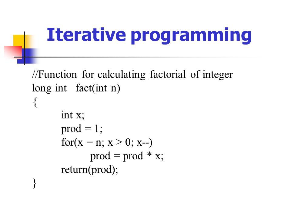 Iterative programming
