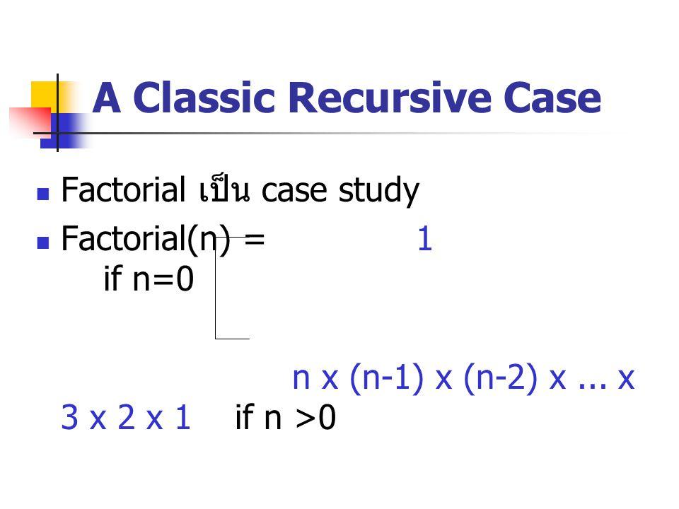 A Classic Recursive Case
