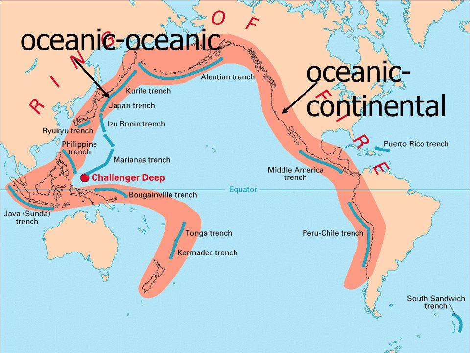 oceanic-oceanic oceanic-continental