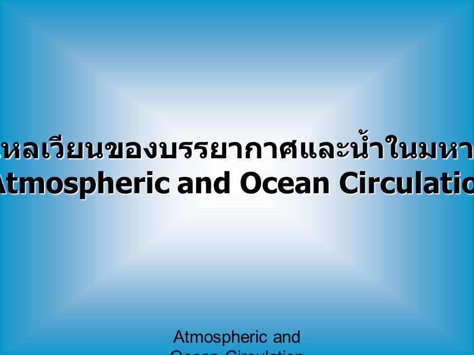 การไหลเวียนของบรรยากาศและน้ำในมหาสมุทร