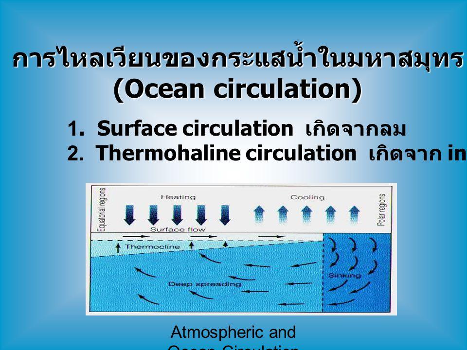 การไหลเวียนของกระแสน้ำในมหาสมุทร