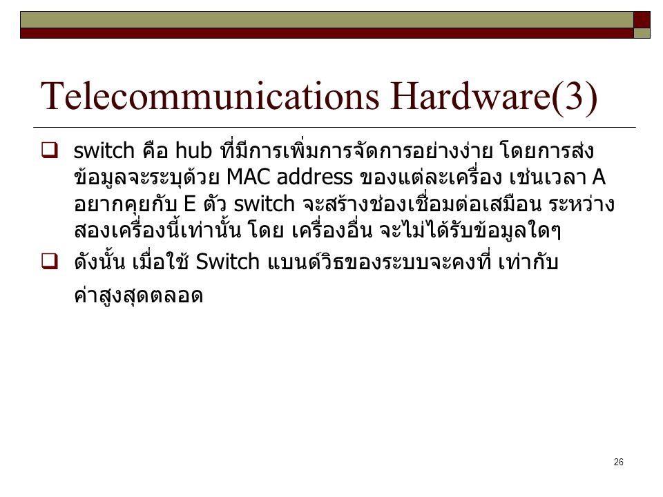 Telecommunications Hardware(3)