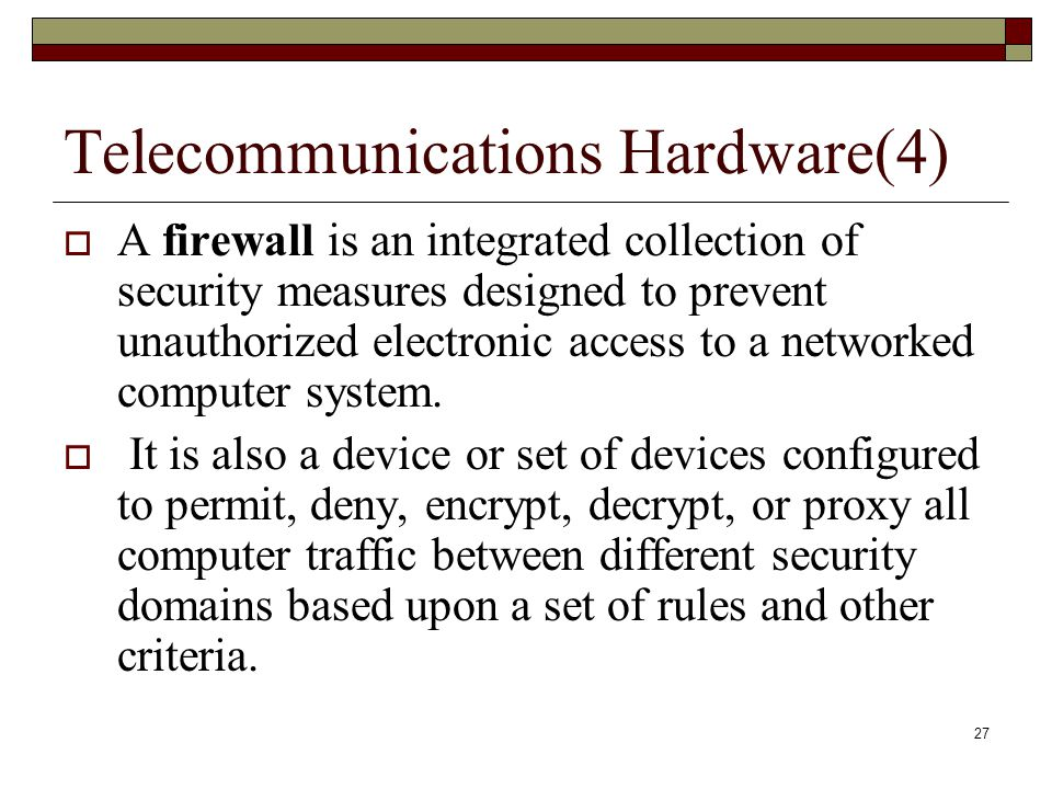 Telecommunications Hardware(4)