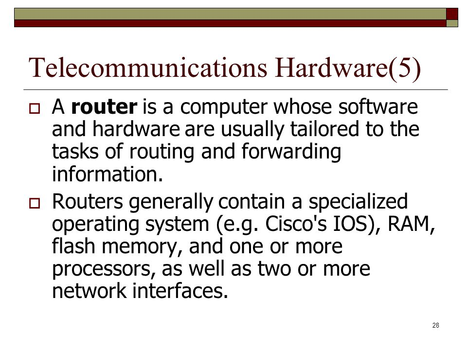 Telecommunications Hardware(5)