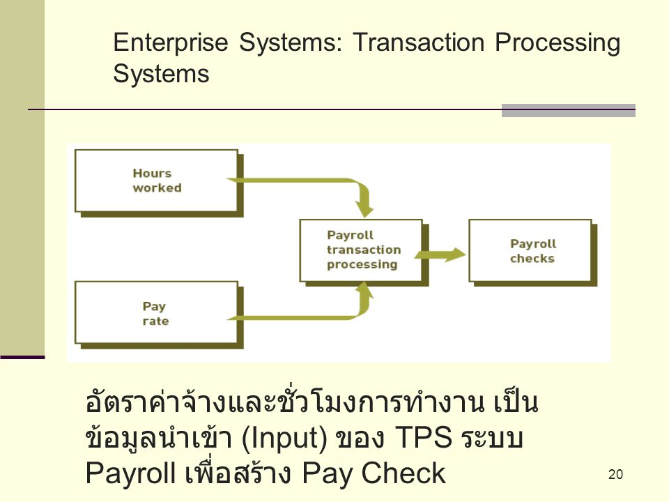 Enterprise Systems: Transaction Processing Systems