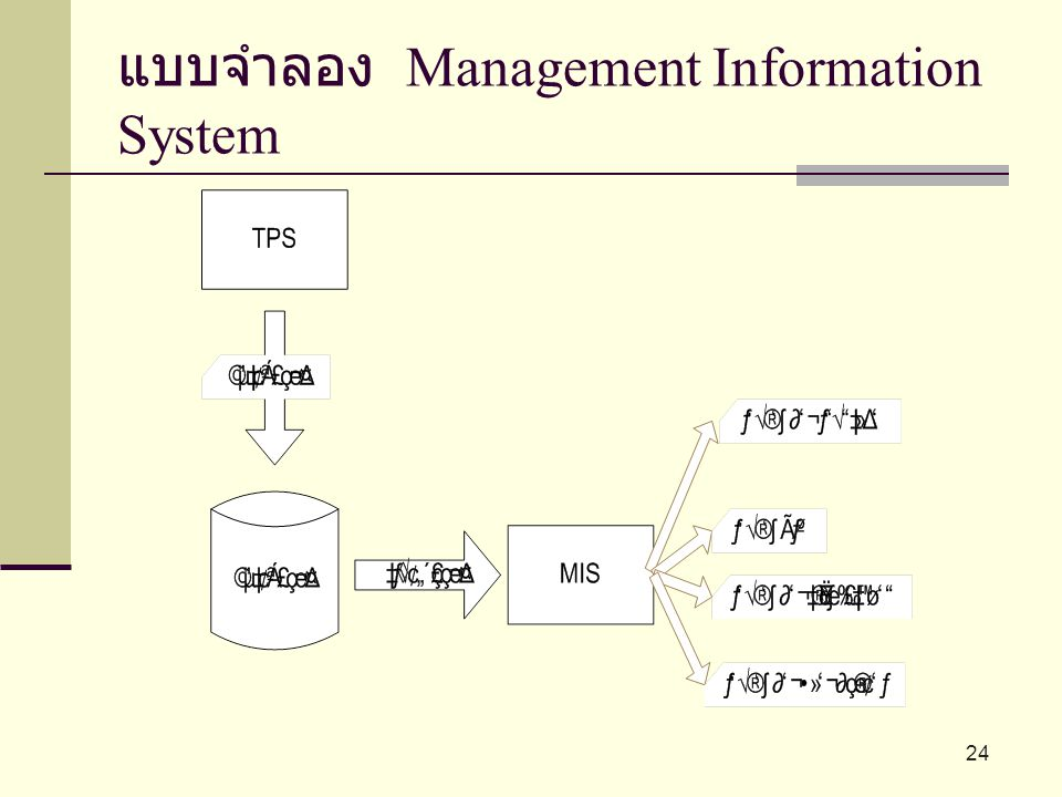 แบบจำลอง Management Information System