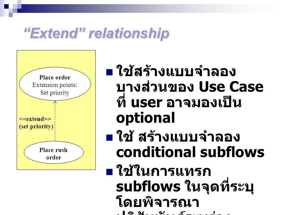 Extend relationship