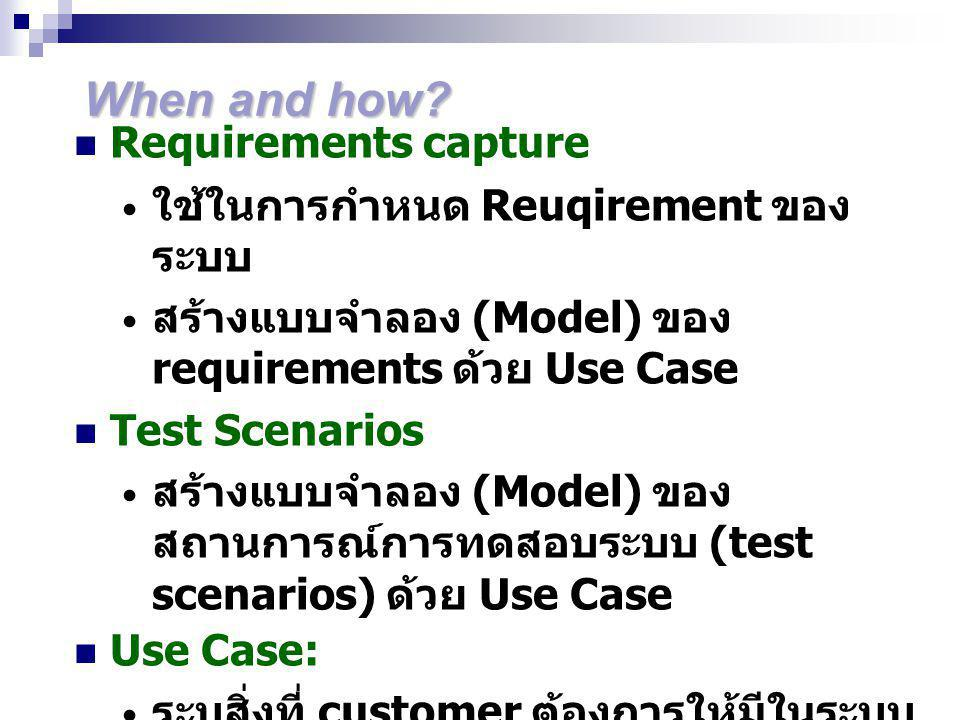 When and how Requirements capture ใช้ในการกำหนด Reuqirement ของระบบ