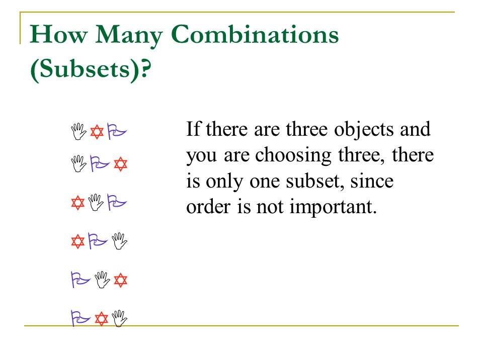 How Many Combinations (Subsets)