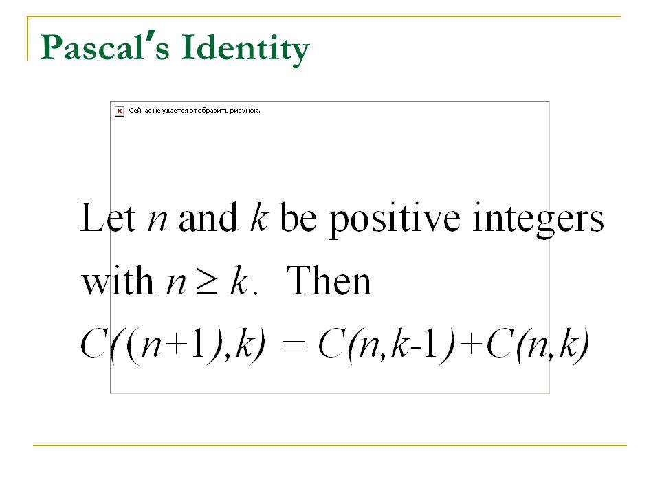 Pascal's Identity