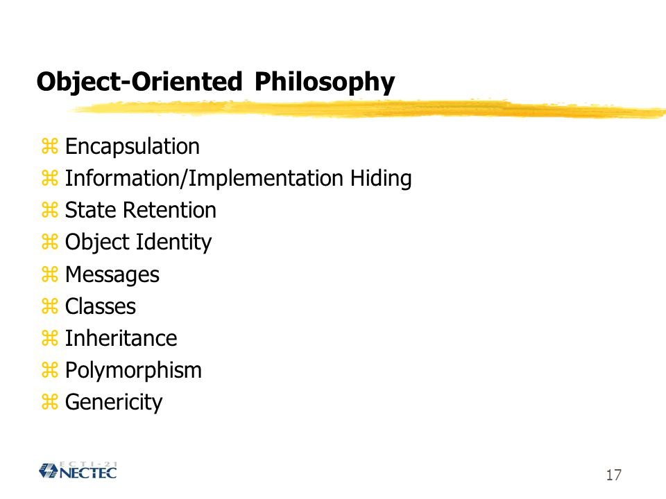 Object-Oriented Philosophy