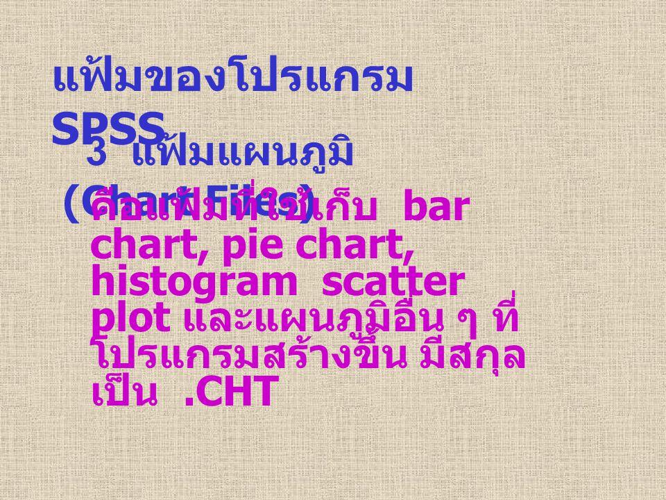 แฟ้มของโปรแกรม SPSS 3 แฟ้มแผนภูมิ (Chart Files)