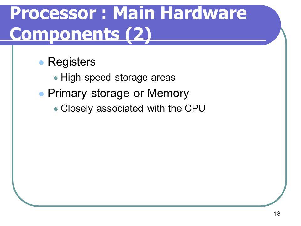 Processor : Main Hardware Components (2)