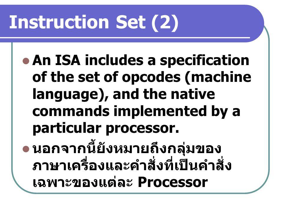 Instruction Set (2)