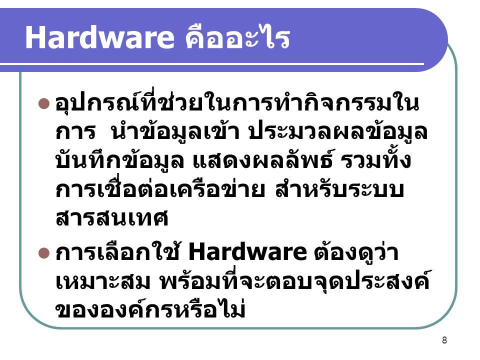Hardware คืออะไร