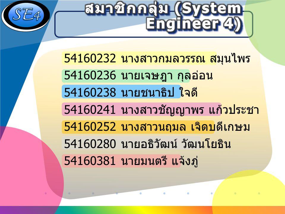 สมาชิกกลุ่ม (System Engineer 4)