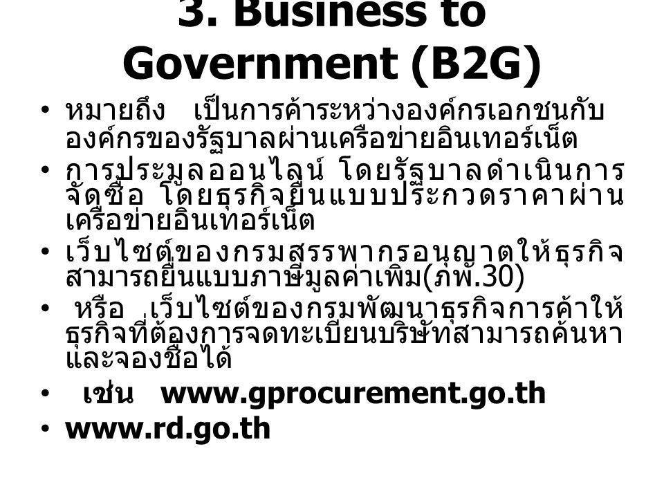 3. Business to Government (B2G)